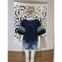 Baju Fashion Wanita Atasan Blouse Paris Blink Blink import best seller