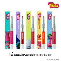 (Terbatas) The FACE SHOP - TROLLS INK DRAW DUAL LIPS