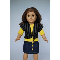 [poledit] Unique Doll Clothing Yellow Skirt Set for 18` Including The American Girl Line D/12240100
