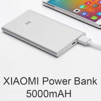 Xiaomi Mi Power Bank 5000 mAh Original - Silver - Bonus Gurita