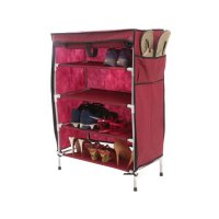 Anya-Living RS 004 - 5T Shoe Rack - Maroon
