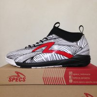 Sepatu Futsal Specs Barricada Ultra IN White Black 400530 Original