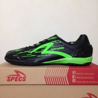Sepatu Futsal Specs Accelerator Light Speed IN Black Green 400506 Ori