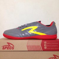 Sepatu Futsal Specs Bold IN Cool Grey Red 400548 Original BNIB