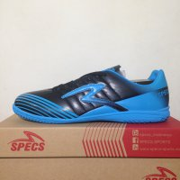 Sepatu Futsal Specs Barricada Patriot IN Black Blue 400580 Original
