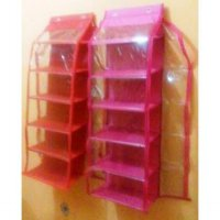 5+1 susun Rak Sepatu Gantung Resleting Hanging Shoes Organizer Zipper HSOZ sleting retsleting