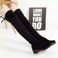 Over the knee suede boot