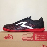 Sepatu Futsal Specs Apache IN Black Red Poppy 400570 Original BNIB