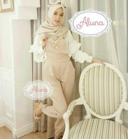 ALUNA OVER ALL#Ootd #Hijab #Fashion #Girl #Jumpsuit #Outer #Jaket #Dress #Onlineshop #Bajumuslim #Bajuwanita #Tunik