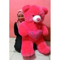 Free bordir nama. Boneka Teddy Bear Love 1 meter