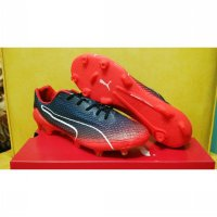 Sepatu Bola / Soccer Puma Evospeed Fresh Black Red Blast - FG