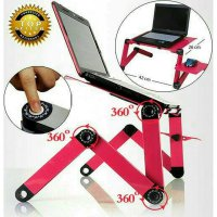 READY Meja Laptop Lipat Portable with COOLER FAN + Dudukan MOUSE