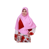 Jilbab Pricilla_Bolak-Balik 2in1_Vanila Rose_Size XL