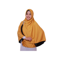 Jilbab Pricilla_Bolak-Balik 2in1_Black Gold_Size M