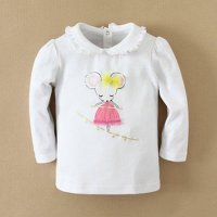 Mom and Bab Mouse White Long tee