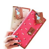 New Fashion Lady Women Long Purse Clutch Wallet Zip Bag Card Holder