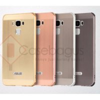 """Metal Bumper Case with Brushed Cover - Asus Zenfone 3 Max 5.5"""" ZC553KL"""