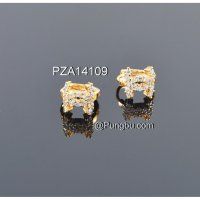 Anting emas jepit model chanel PZA14109