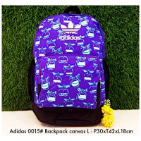 Tas import Adidas Backpack Canvas L 0015 - 1