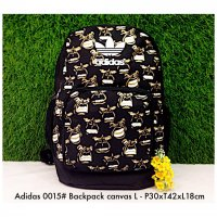 Tas import Adidas Backpack Canvas L 0015 - 4