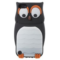 Tv311 - Owl 3D Silicone Case Ipod Touch 5 / 6 Black
