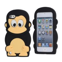 Tv310 - Monkey 3D Silicone Case Ipod Touch 5 / 6 Black