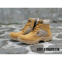 Sepatu Cut Enginner safety Boots Sol Delta Tan