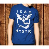 Pokemon Go 3 Team Mystic Game Anime Kaos T-Shirt TShirt T Shirt