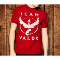 Pokemon Go 4 Team Valor Game Anime Kaos T-Shirt TShirt T Shirt