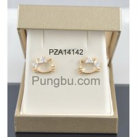 Anting emas hello kitty dan pita PZA14142