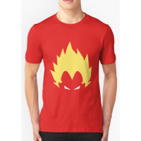 T-shirt dragon ball z vegeta anime manga - red