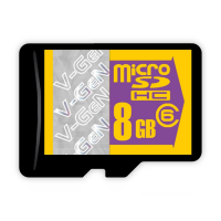 V-Gen Memory Micro SD HC 8GB / Transflash Class 6, Non Adapter