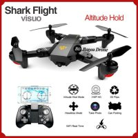 Drone Camera Murah Shark Flight Drone Mini Lipat Selfie Video GPS Wifi