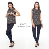 Just Mom Baju menyusui Picco Black Ethnic PC101