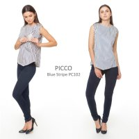 Just Mom Baju menyusui Picco Blue Stripe PC102