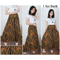 Cj collection Celana batik kulot rok panjang wanita jumbo long pant Asha