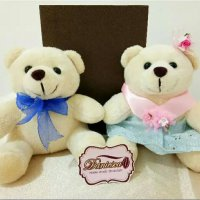 Boneka Couple Teddy Bear 15 Cm