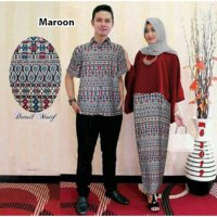 Busana Muslim | Gamis Couple | Baju Batik | Baju Formal | Baju Pasangan | Batik Kapel GMPK AS20