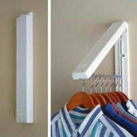 Gantungan baju lipat wall hanger folding hidden clothes drying rack