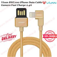 Vivan BWL100 iPhone Data Cable Gamers Fast Charge 2.4A