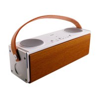 [globalbuy] Wooden Bluetooth Speaker Wireless Outdoor Handsfree Stereo Subwoofer Portable /4423755