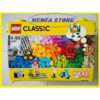 Hot Promo LEGO Classic # 10698 Large Creative Ideas Bricks Box with 2 Baseplate Hadiah Ulang Tahun