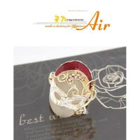 Korean fashion large pieces of opal mask personality and temperament ring