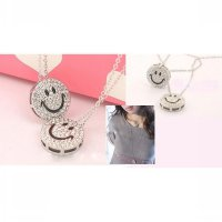 Kalung 2 susun diamond smiley