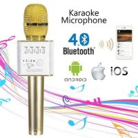 Mic Wireless Portable Bluetooth Karaoke Player Q9