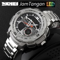 SKMEI Goliath 1121 Silver Jam Tangan Original Import Tahan Air