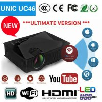 UNIC UC46 ULTIMATE - 1200 Lumens Mini LED Portable Projector with WiFi
