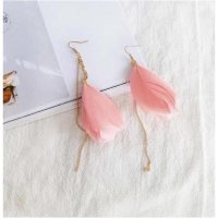 Unik IMPORT Anting Korea Bulu Pasang Yng Elegan Earrings 030 Diskon