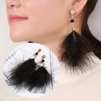 Unik Anting Bulu Pure Natural High Quality Feather Earrings Murah
