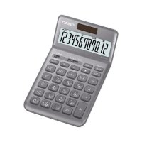 CASIO JW-200SC Colorful Calculator Kalkulator 12 digit simple elegant - Hitam